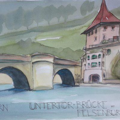 Bern: Felsenburg mit Untertorbrücke