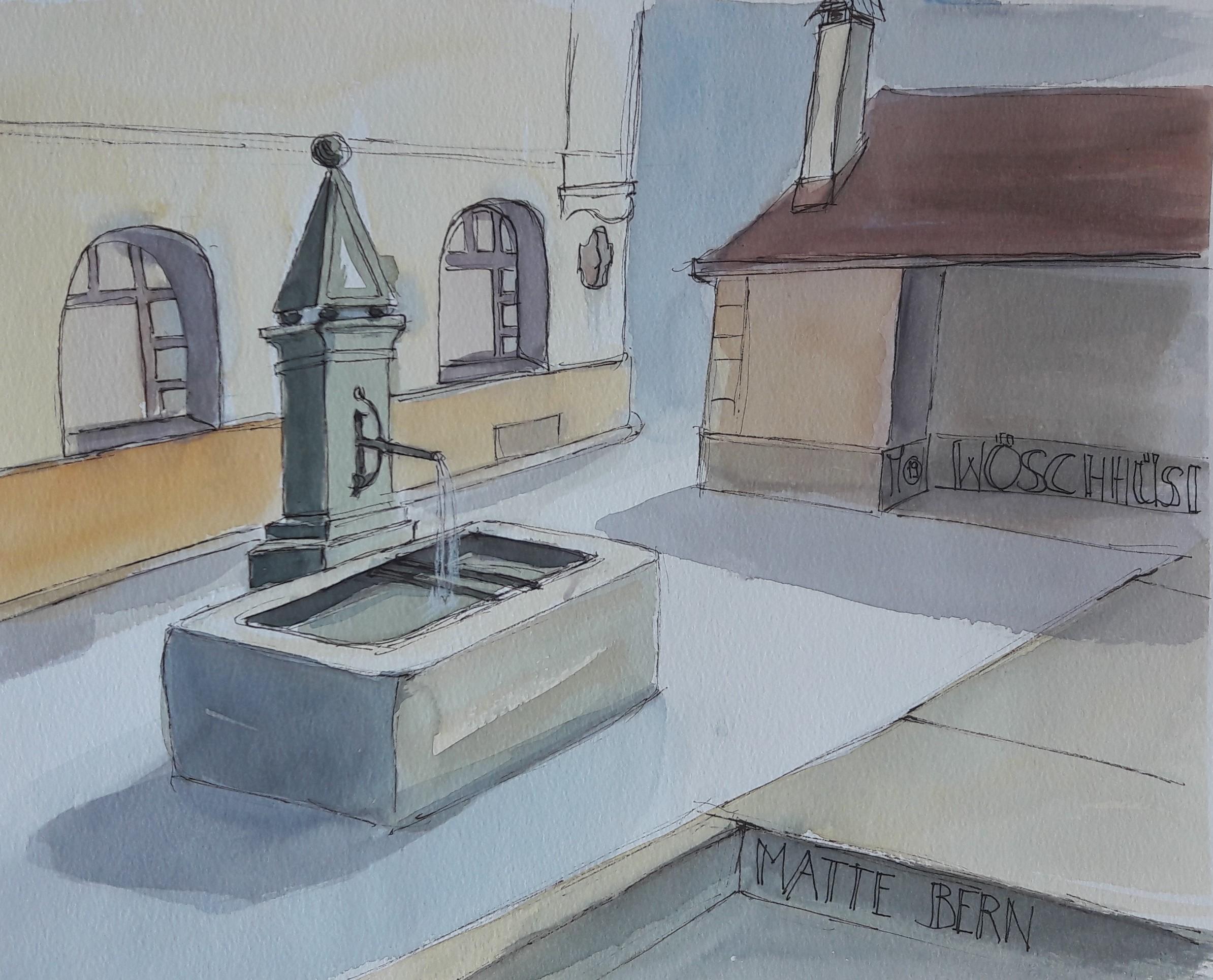 Bern: Brunnen in der Matte