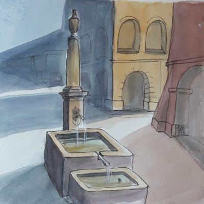 Bern: Herrengass Brunnen