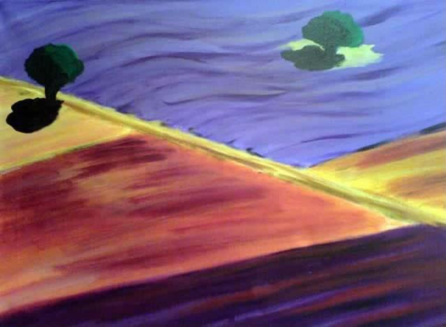 Provence - Lavendelfelder, 70X50 cm