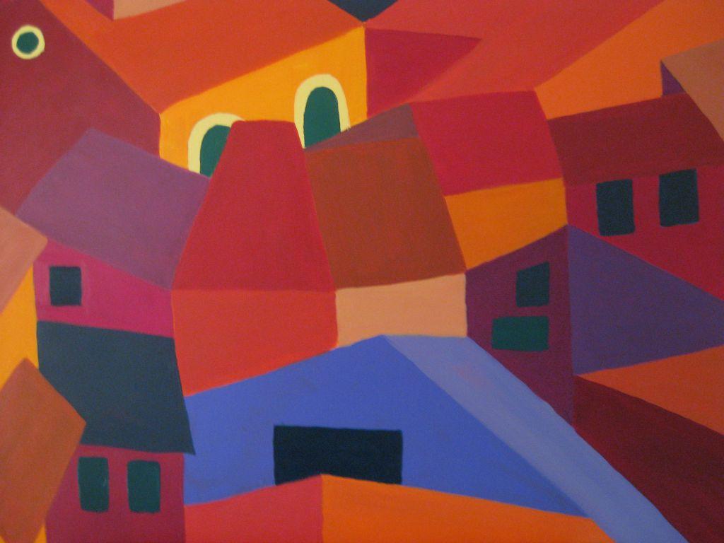 Stadt in Farben 1, 80x60 cm