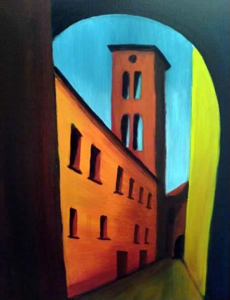 Lucca - Turm, 50x40 cm