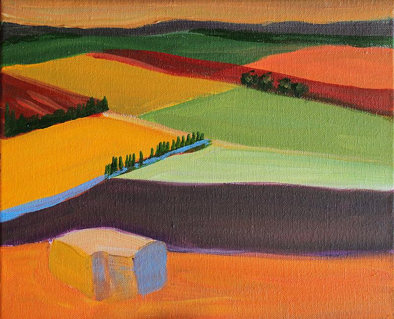 Lavendel mit Hügel